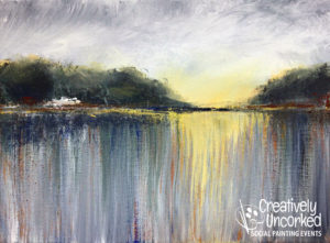 Abstract November Landscape from Creatively Uncorked https://creativelyuncorked.com/