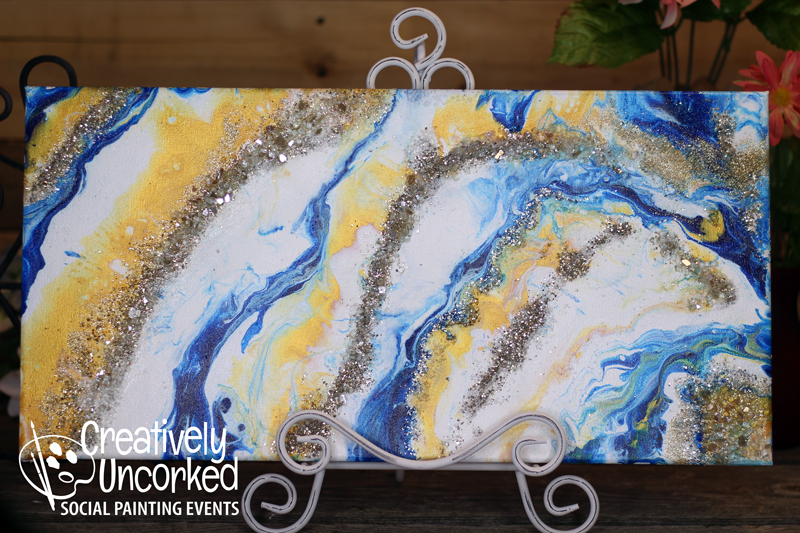 Acrylic Pour Geode at Creatively Uncorked https://creativelyuncorked.com/