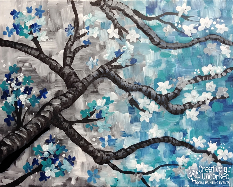 Almond Blossoms at Creatively Uncorked https://creativelyuncorked.com/