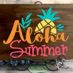 Aloha Summer 16x11 at Creatively Uncorked https://creativelyuncorked.com/