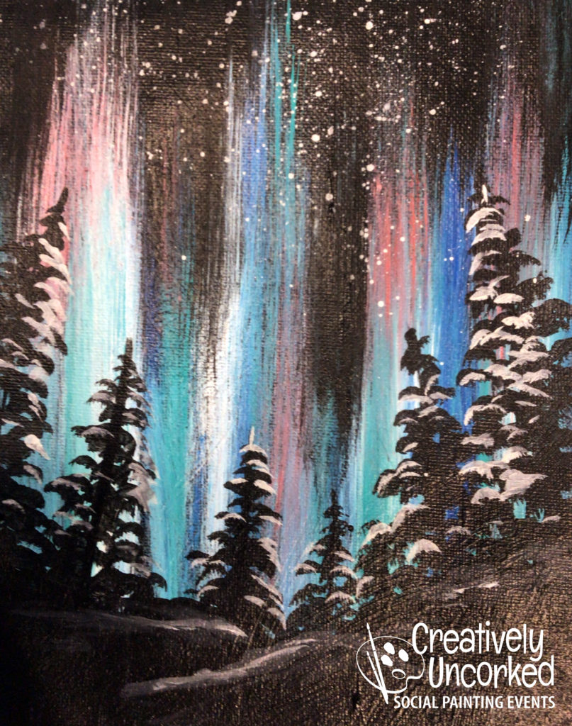 Aurora Borealis by Creatively Uncorked https://creativelyuncorked.com/