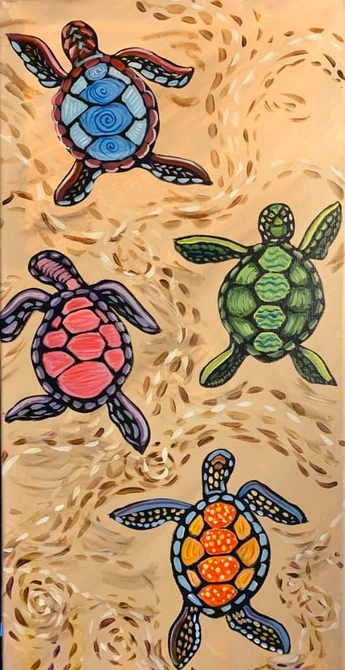 Baby Sea Turtles at Creatively Uncorked https://creativelyuncorked.com/