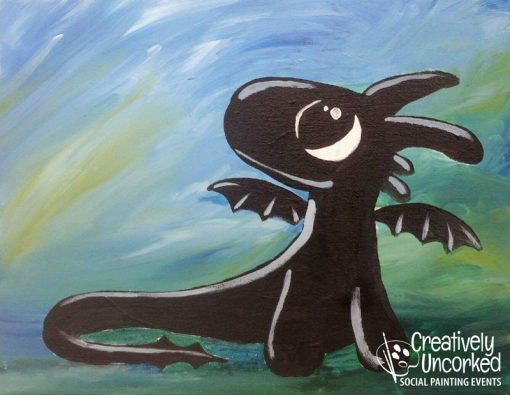 Baby Toothless at Creatively Uncorked https://creativelyuncorked.com/