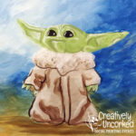 Baby Yoda at Creatively Uncorked https://creativelyuncorked.com