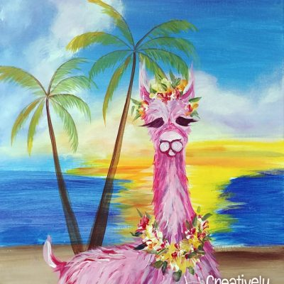 Bahama Llama at Creatively Uncorked https://creativelyuncorked.com
