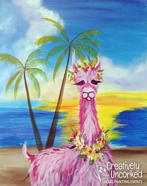 Bahama Llama at Creatively Uncorked https://creativelyuncorked.com