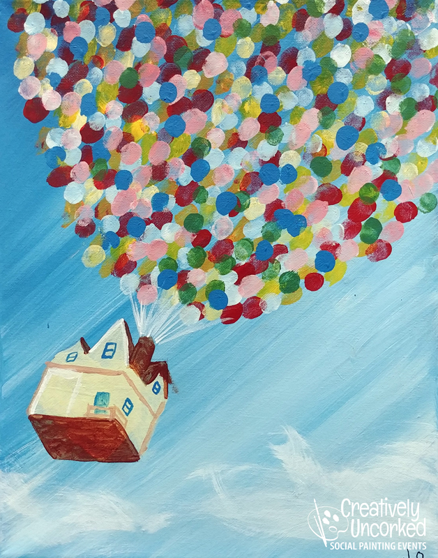 Balloon House at Creatively Uncorked https://creativelyuncorked.com/