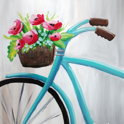 Bicycle Basket at Creatively Uncorked https://creativelyuncorked.com/