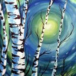 Birch Sunrise at Creatively Uncorked https://creativelyuncorked.com/