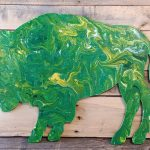 Bison Flow Art at Creatively Uncorked https://creativelyuncorked.com/