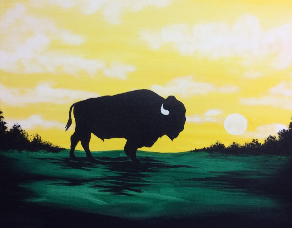 Bison Silhouette @ Creatively Uncorked https://creativelyuncorked.com/