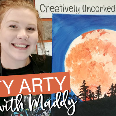 Blood Moon On Demand Painting Workshop by Creatively Uncorked https://creativelyuncorked.com/