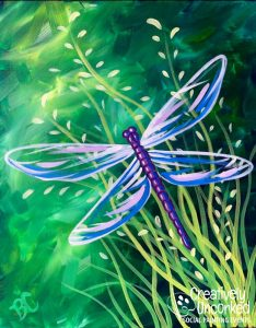 Blue Dragonfly at Creatively Uncorked https://creativelyuncorked.com