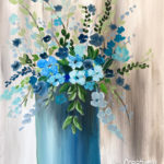 Blue Flowers at Creatively Uncorked https://creativelyuncorked.com/