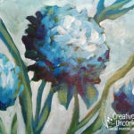 Blue Hydrangeas at Creatively Uncorked https://creativelyuncorked.com/
