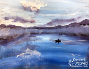 Blue Lake at Creatively Uncorked https://creativelyuncorked.com/