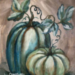 Blue Pumpkins by Creatively Uncorked https://creativelyuncorked.com/