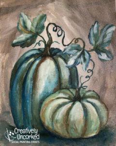 Blue Pumpkins by Creatively Uncorked https://creativelyuncorked.com/