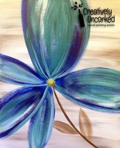 Blue Teal Flower