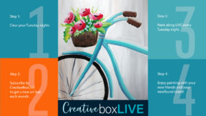 Bycicle Basket CBL from CreativeBoxLIVE by Creatively Uncorked