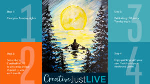 Canoe in the Moonlight CBL from Creatively Uncorked https://creativelyuncorked.com/