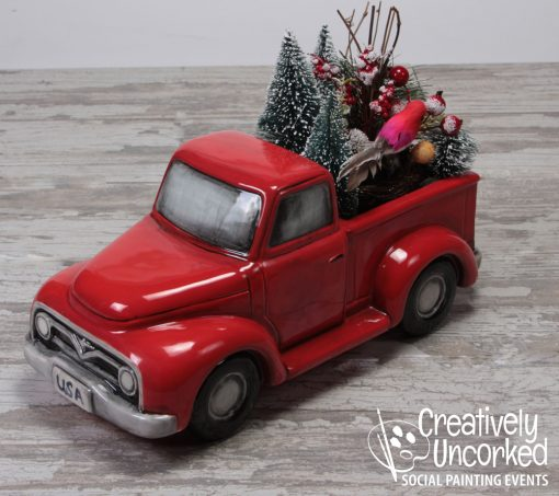 Ceramic Truck Container at Creatively Uncorked https://creativelyuncorked.com
