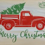 Christmas Truck 16x11