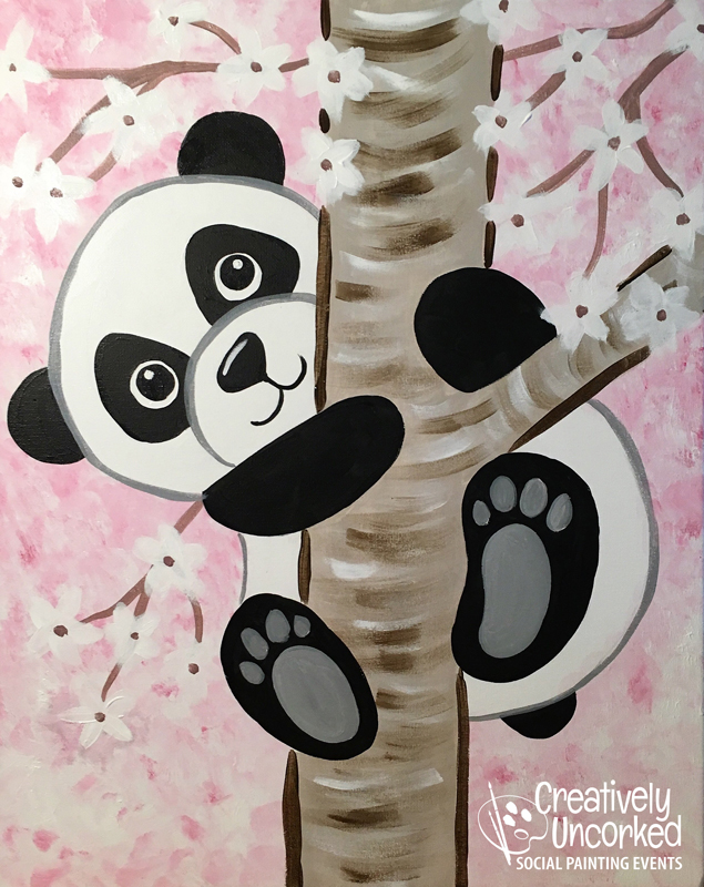 Climbing Panda at Creatively Uncorked https://creativelyuncorked.com
