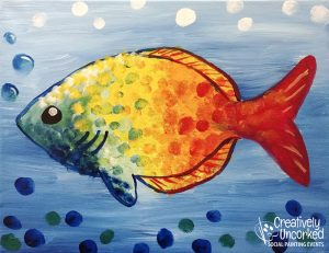 Colorful Fish at Creatively Uncorked https://creativelyuncorked.com/