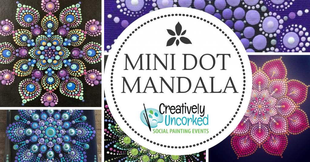 Mini Dot Mandala at Creatively Uncorked https://creativelyuncorked.com/