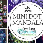 Mini Dot Mandala at Creatively Uncorked https://creativelyuncorked.com/
