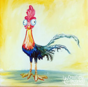 Crazy Rooster at Creatively Uncorked https://creativelyuncorked.com