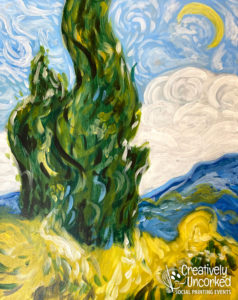 Cypresses at Creatively Uncorked https://creativelyuncorked.com/