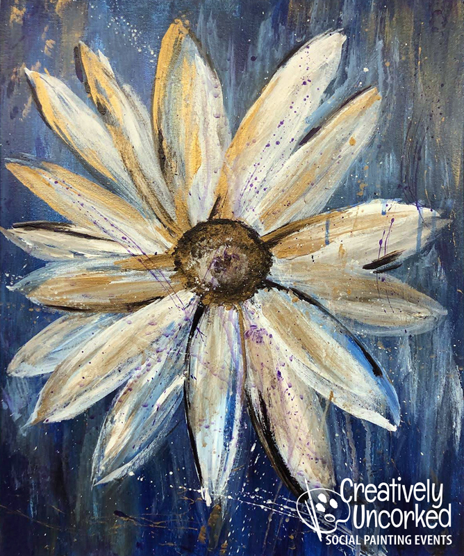 Daisy Blues CP at Creatively Uncorked https://creativelyuncorked.com