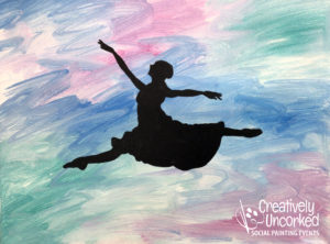 Dancer Jumping at Creatively Uncorked https://creativelyuncorked.com/