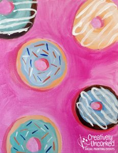 Donuts at Creatively Uncorked https://creativelyuncorked.com/