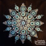 Dot Mandala Turquoise at Creatively Uncorked https://creativelyuncorked.com/