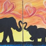 Elephant mommy and me at Creatively Uncorked https://creativelyuncorked.com/