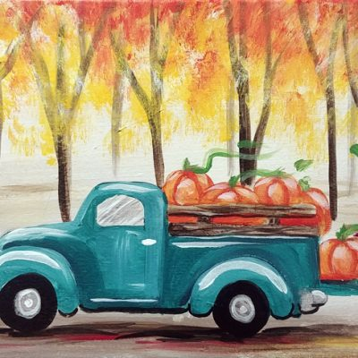 Fall Truck at Creatively Uncorked https://creativelyuncorked.com