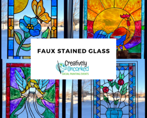 Faux Stained Glass at Creatively Uncorked https://creativelyuncorked.com/