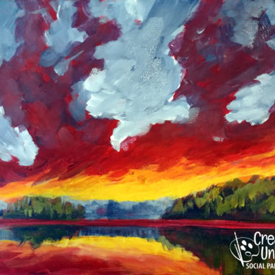 Firey Sunset - CreativeBoxLIVE painting by Creatively Uncorked