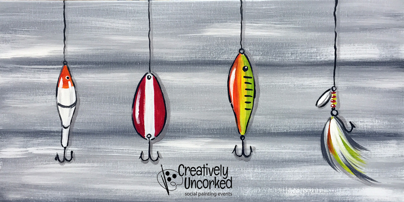 Fishing Lures Gray Background