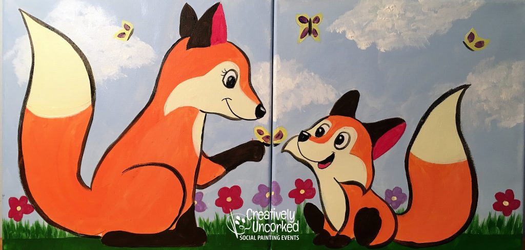 Foxes at Creatively Uncorked https://creativelyuncorked.com/
