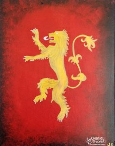 GOT House Lannister at Creatively Uncorked https://creativelyuncorked.com/