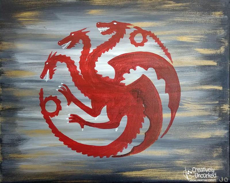 GOT House Targaryen at Creatively Uncorked https://creativelyuncorked.com/