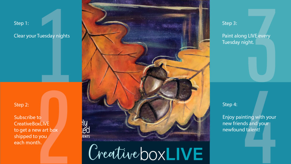 Fall Oak CBL with CreativeBoxLIVE from Creatively Uncorked https://creativelyuncorked.com/