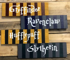 HP House Wood Signs at Creatively Uncorked https://creativelyuncorked.com/