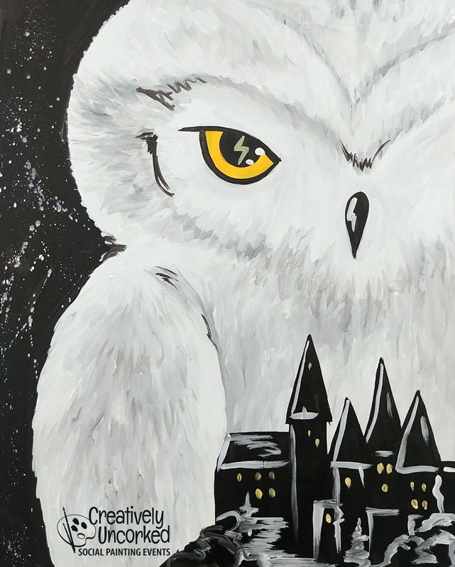 Hedwig Over Hogwarts