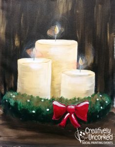 Holiday Candles at Creatively Uncorked https://creativelyuncorked.com/