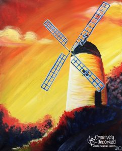 Holland Wind Mill at Creatively Uncorked https://creativelyuncorked.com/